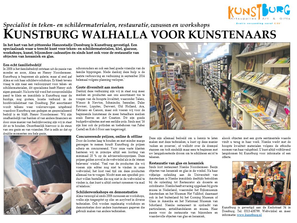 Kunstburg, Walhalla voor kunstenaars