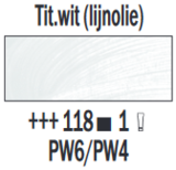 Titaanwit lijnolie  Rembrandt Olieverf Royal Talens 60 ML (Serie 1) Kleur 118_5