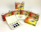 Floral Colors Set  Daniel Smith 6 Halve napjes Aquarelverf / half pans Watercolour Set 001_5