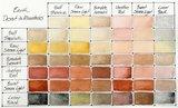 Earth Colors Set  Daniel Smith 6 Halve napjes Aquarelverf / half pans Watercolour Set 002_5