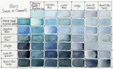 Blues Set  Daniel Smith 6 Halve napjes Aquarelverf / half pans Watercolour Set 004_5
