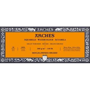 10x25cm Grain Tochon / Rough Aquarelblok van Arches® 100 % Katoen 300g/m²