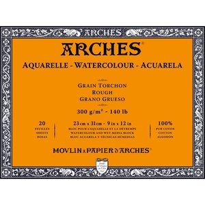 23x31cm Grain Tochon / Rough Aquarelblok van Arches® 100 % Katoen 300g/m²