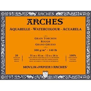 31x41cm Grain Tochon / Rough Aquarelblok van Arches® 100 % Katoen 300g/m²