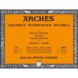 46x61cm Grain Tochon / Rough Aquarelblok van Arches® 100 % Katoen 300g/m²