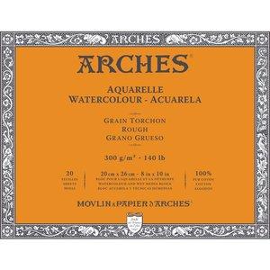 20x26cm Grain Tochon / Rough Aquarelblok van Arches® 100 % Katoen 300g/m²