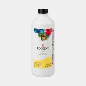 Lichtgeel Ecoline fles 490 ml van Talens Kleur 201