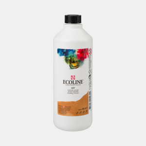 Gele Oker Ecoline fles 490 ml van Talens Kleur 227