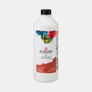 Sienna Gebrand Ecoline fles 490 ml van Talens Kleur 411