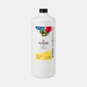Lichtgeel Ecoline fles 990 ml van Talens Kleur 201