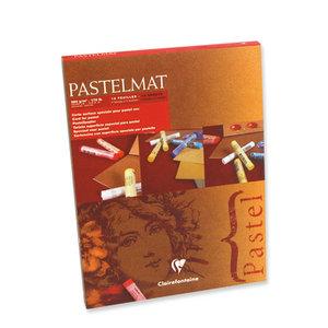 Pastelmat No 1 Pastel Papier verlijmd Lichte kleuren fijne structuur 12 vellen van Clairefontaine 360 grams 18 x 24 cm