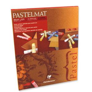 Pastelmat No 1 Pastel Papier verlijmd Lichte kleuren fijne structuur 12 vellen van Clairefontaine 360 grams 30 x 40 cm