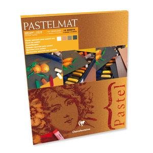 Pastelmat No 2 Pastel Papier verlijmd Donkere kleuren fijne structuur 12 vellen van Clairefontaine 360 grams 24 x 30 cm