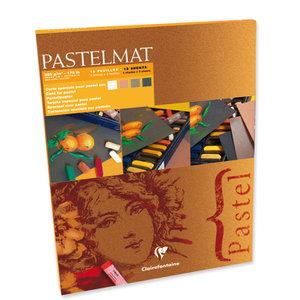 Pastelmat No 2 Pastel Papier verlijmd Donkere kleuren fijne structuur 12 vellen van Clairefontaine 360 grams 30 x 40 cm