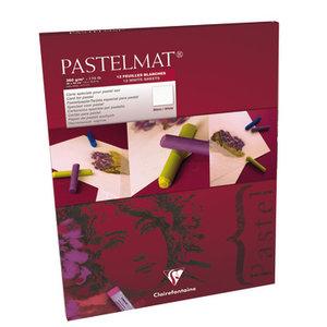 Pastelmat No 3 Pastel Papier verlijmd Wit fijne structuur 12 vellen van Clairefontaine 360 grams 30 x 40 cm
