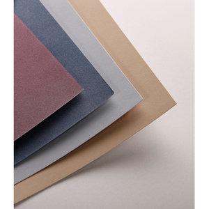 Pastelmat No 4 Pastel Papier verlijmd Blauw Rood Zand kleuren fijne structuur 12 vellen van Clairefontaine 360 grams 24 x 30 cm