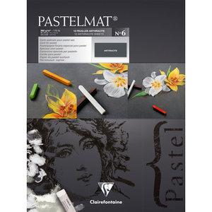 Pastelmat No 6 Pastel Papier verlijmd Antraciet fijne structuur 12 vellen van Clairefontaine 360 grams 30 x 40 cm