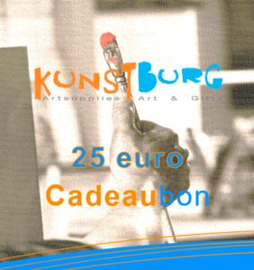 Kunstburg Cadeaubon voor 25 euro