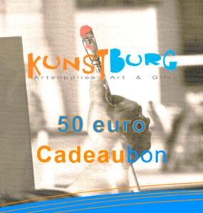 Kunstburg Cadeaubon voor 50 euro