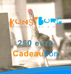 Kunstburg Cadeaubon voor 250 euro