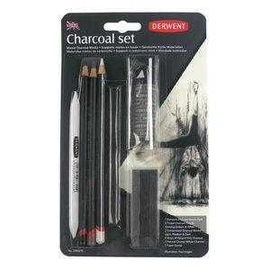 Mixed Charcoal set Charcoal (Houtskool) Pencil / Potlood van Derwent  Set 675