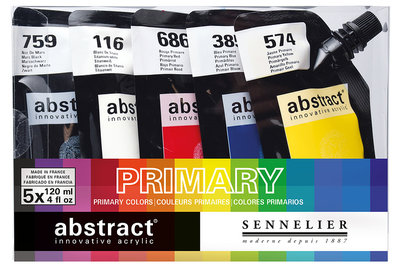 Abstract Starter set Primaire kleuren Sennelier 5 x 120 ml  Set 820
