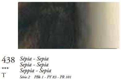 Sepia (Serie 2) Oil Stick van Sennelier 38 ML Kleur 438