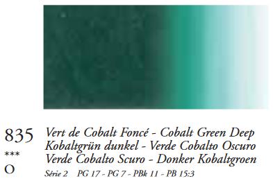 Kobaltgroen Donker (Serie 2) Oil Stick van Sennelier 38 ML Kleur 835