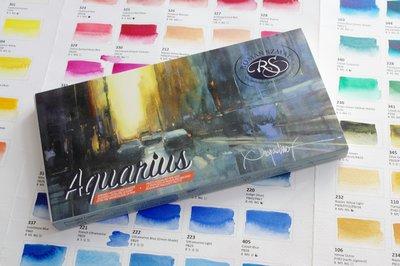 Pasqualino Fracasso Set Aquarius 24 hele napjes Aquarelverf van Roman Szmal Set 14