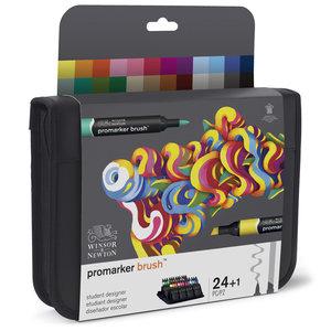 Promarker Brush Student Designer set 24 x Promarker Brush en Blender van Winsor & Newton Set 079