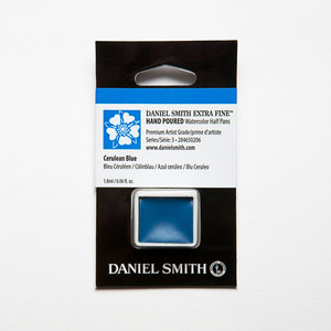 Cerulean Blue (S3) Daniel Smith Half pans Aquarelverf / Watercolour Kleur 206