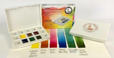 Floral Colors Set  Daniel Smith 6 Halve napjes Aquarelverf / half pans Watercolour Set 001