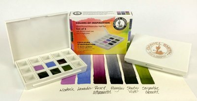 Colors of Inspiration Set  Daniel Smith 6 Halve napjes Aquarelverf / half pans Watercolour Set 003
