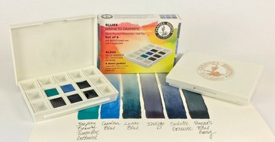 Blues Set  Daniel Smith 6 Halve napjes Aquarelverf / half pans Watercolour Set 004