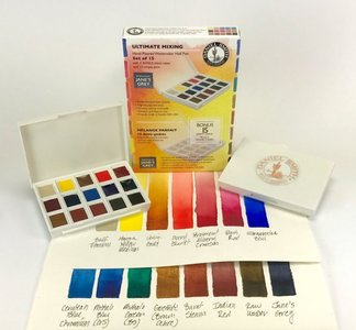 Ultimate Mixing Colors Set  Daniel Smith 15 Halve napjes Aquarelverf / half pans Watercolour Set 009