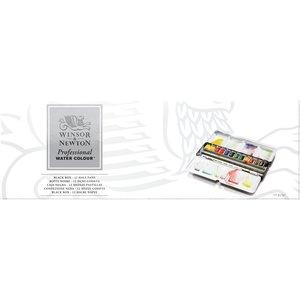 "Starter set ""Black Box"" 12 halve napjes Professioneel Aquarelverf van Winsor & Newton  Set 548"