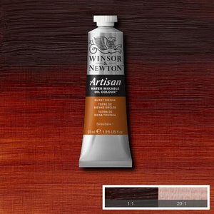 Burnt Sienna (S1) Artisan Watervermengbare olieverf 37 ml Kleur 074