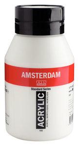 Titaanwit Amsterdam  Standard Series  Acrylverf (1 liter) 1000 ML Kleur 105