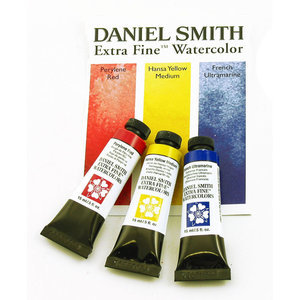 Primaire kleuren set  Aquarelverf Daniel Smith (Extra fine Watercolour) 3 x 15 ml tubes