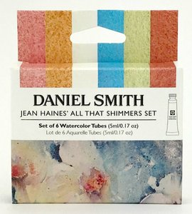 Jean Haines' All That Shimmers Watercolor Set  Aquarelverf Daniel Smith (Extra fine Watercolour) 6 x 5 ml tubes