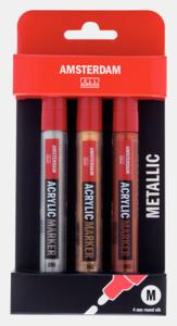 Amsterdam Acrylverf Marker Talens Metaal set  3 X 4 MM