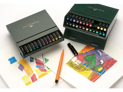 Pitt Artist Pen Brush Faber Castell Tekenstiften Brush 24-delig studiobox Assorti kleuren