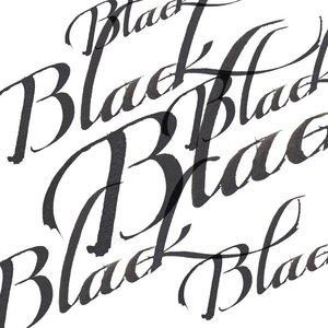 Black Calligraphy Ink van Winsor & Newton 30 ML Kleur 030 Mat