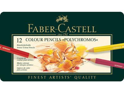 Polychromos Etui met 12 Kleurpotloden Faber Castell