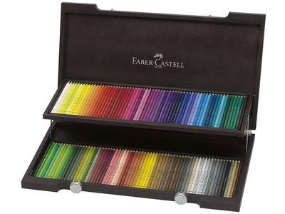 Polychromos Houten Kist met 120 Kleurpotloden Faber Castell