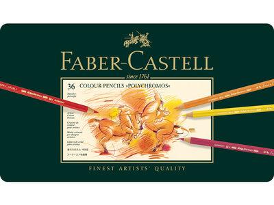 Polychromos Etui met 36 Kleurpotloden Faber Castell