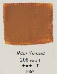Egg Tempera Sienna Naturel Sennelier 21 ML Serie 1 Kleur 208