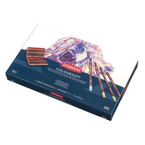 Derwent Coloursoft Set 72 kleurpotloden houten cassette