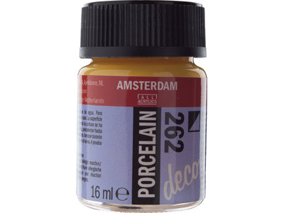 Amsterdam Deco Porselein Goudgeel Dekkend 16 ML Kleur 262