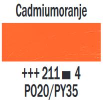 Cadmiumoranje  Rembrandt Olieverf Royal Talens 40 ML (Serie 4) Kleur 211